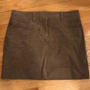 J. Crew Corduroy Mini Skirt